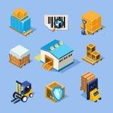 Équipement d'entrepôt de vecteur Photo libre de droits