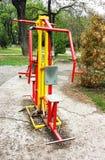 Équipement d'exercice en parc public Images libres de droits