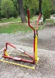Équipement d'exercice en parc public Photos libres de droits