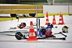 Équipement d'hockey Photos stock