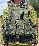 Équipement d'infanterie - déchargement du gilet Image stock