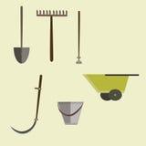 Équipement d'outils de jardin Photos stock