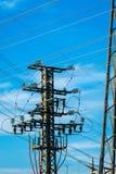 Équipement d'une haute tension des réseaux électriques images stock