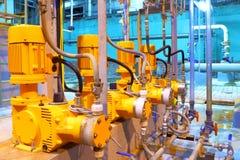 Équipement d'usine. Pompes électriques Image libre de droits