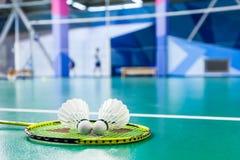 Équipement de badminton Photographie stock