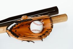 Équipement de base-ball Photo libre de droits
