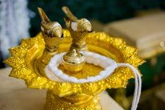 Équipement de cérémonie, cérémonie d'engagement en Thaïlande Photographie stock