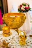 Équipement de cérémonie, cérémonie d'engagement en Thaïlande Photos stock
