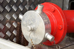 Équipement de camion de pompiers Photo stock