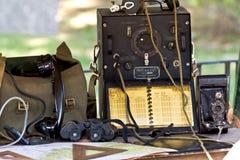 Équipement de campagne militaire Images libres de droits