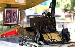 Équipement de campagne militaire Image stock