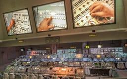 Équipement de Centre de contrôle de la mission des années 1960 d'Apollo sur l'affichage en Kennedy Spa Photographie stock libre de droits