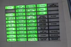 Équipement de Centre de contrôle de la mission des années 1960 d'Apollo sur l'affichage en Kennedy Spa Image libre de droits