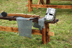 Équipement de chevalier Images stock