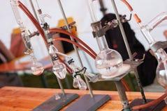 Équipement de chimie Images libres de droits