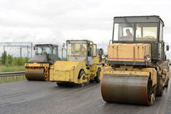 Équipement de construction de routes Photos stock