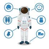 Équipement de costume d'espace d'astronaute Casque, gants, chaussures, sac, réservoir d'oxygène