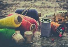Équipement de couture, outils Photo stock
