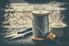 Équipement de couture, outils Photos libres de droits