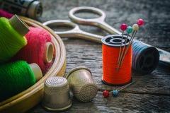 Équipement de couture, outils Images libres de droits