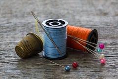 Équipement de couture, outils Photographie stock libre de droits