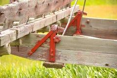 Équipement de ferme avec l'étoile rouge antique Photos stock