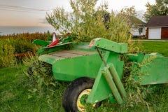 Équipement de ferme de l'Iowa images stock
