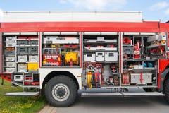 Équipement de Firetruck photos stock