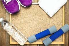 Équipement de forme physique et de sport Photographie stock