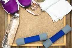 Équipement de forme physique et de sport Photos stock
