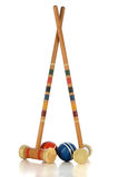 Équipement de jeu de croquet Photos libres de droits