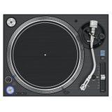 Équipement de mélangeur de plaque tournante du DJ, vue supérieure Image stock