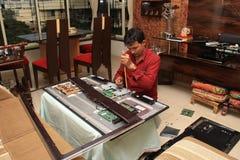 Équipement de maison de Repairing LED de technicien Photos stock