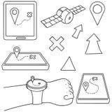 Équipement de navigation Images libres de droits