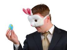 équipement de Pâques de 5 lapins Photo stock