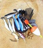 Équipement de pêche Photo stock