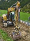 Équipement de pelles rétro de construction Image stock
