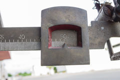 Équipement de pesage Photographie stock