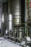 Équipement de réservoir Industrie pharmaceutique et chimique Fabrication sur l'usine Image libre de droits