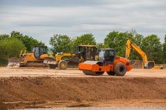Équipement de route pour la construction des routes Photos stock