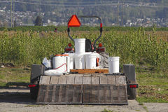 Équipement de sac à dos de pesticide et d'herbicide Photos libres de droits