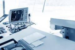 Équipement de salle de commande de croisière image stock