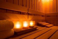Équipement de sauna Photographie stock libre de droits
