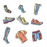 Équipement de sport de course d'orientation Illustration de vecteur illustration stock