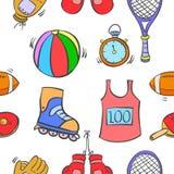 Équipement de sport de modèle d'art de vecteur Image libre de droits