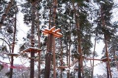 Équipement de sport s'exerçant dans la forêt photos stock