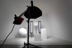 Équipement de studio Photographie stock