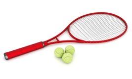 Équipement de tennis Photos libres de droits