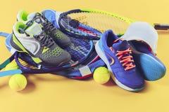 Équipement de tennis Photos stock