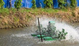 Équipement de traitement des eaux résiduaires Photos libres de droits